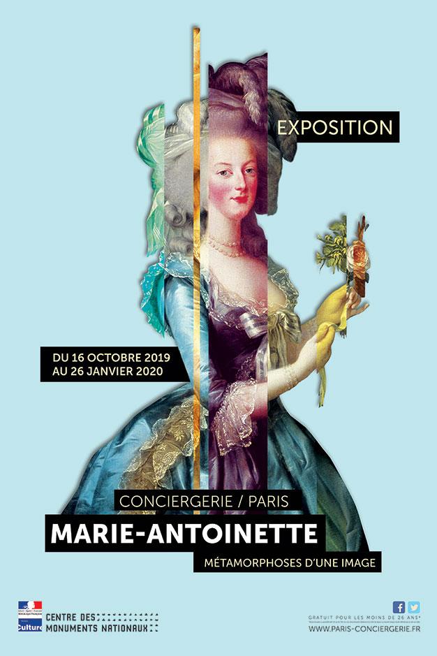 Affiche exposition Marie-Antoinette Conciergerie 2019