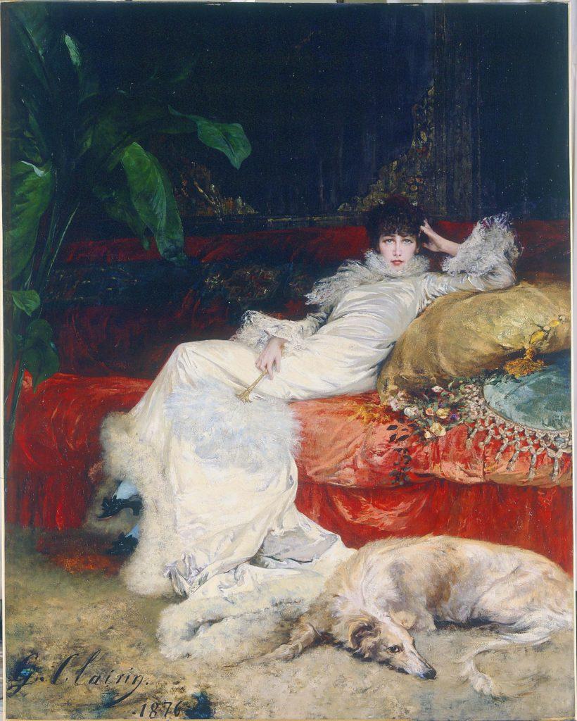 George Clairin, Portrait de Sarah Bernhardt, 1876