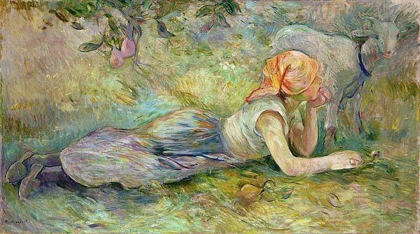 Berthe Morisot, Bergère Couchée, 1891