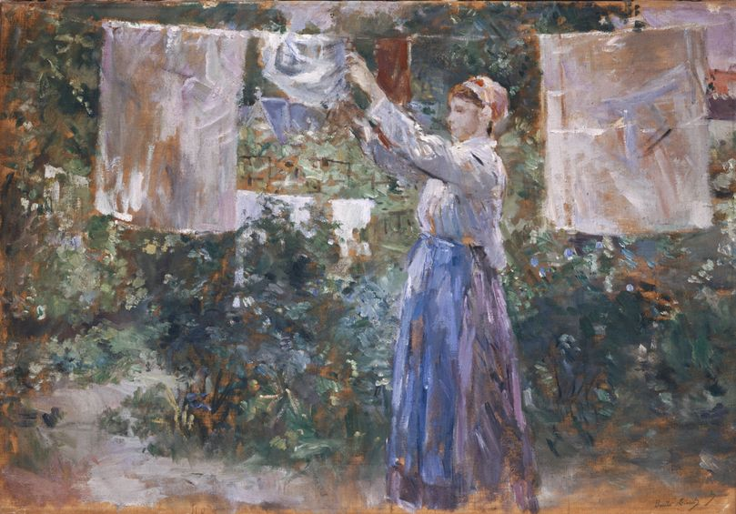 Morisot, Woman Hanging out the Wash, 1881   Oil on canvas, 46 x 67 cm  Ny Carlsberg Glyptotek, Copenhagen