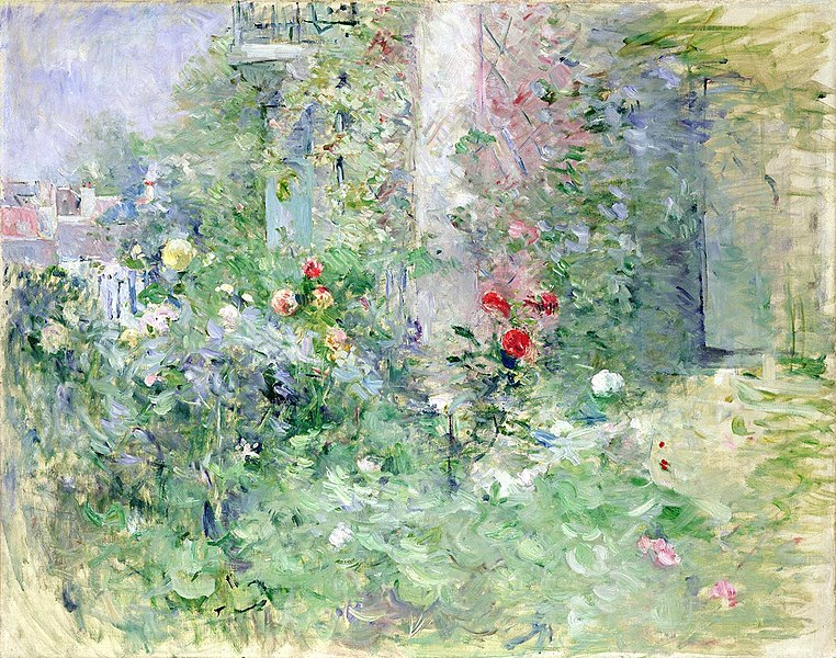 Berthe Morisot, The Garden at Bougival, 1884 Oil on canvas, 73 x 92 cm  Musée Marmottan-Monet