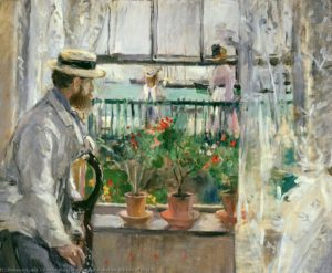 Berthe Morisot, Eugène Manet at the Isle of Wight, 1875, oil on canvas   38 x 46 cm, Musée Marmottan-Monet, Paris