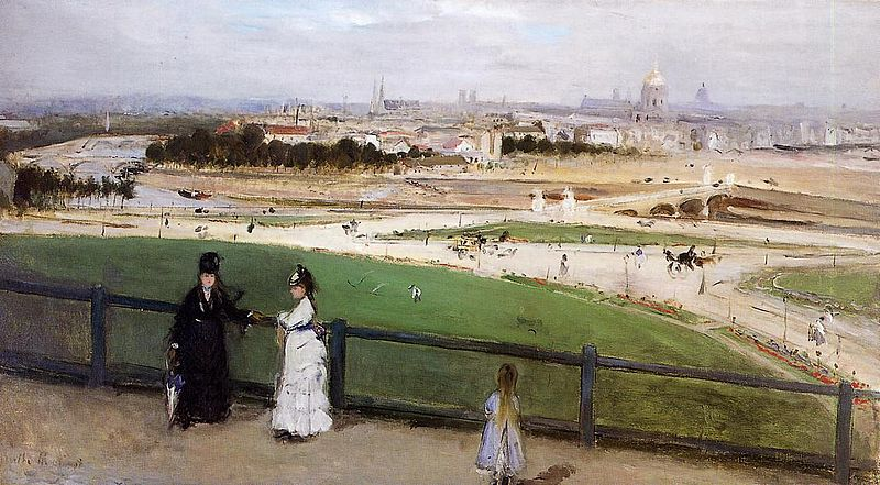 Berthe Morisot, View of Paris from the Trocadéro, 1871-1873 Oil on canvas, 46 x 81.6 cm, Santa Barbara Museum of Art