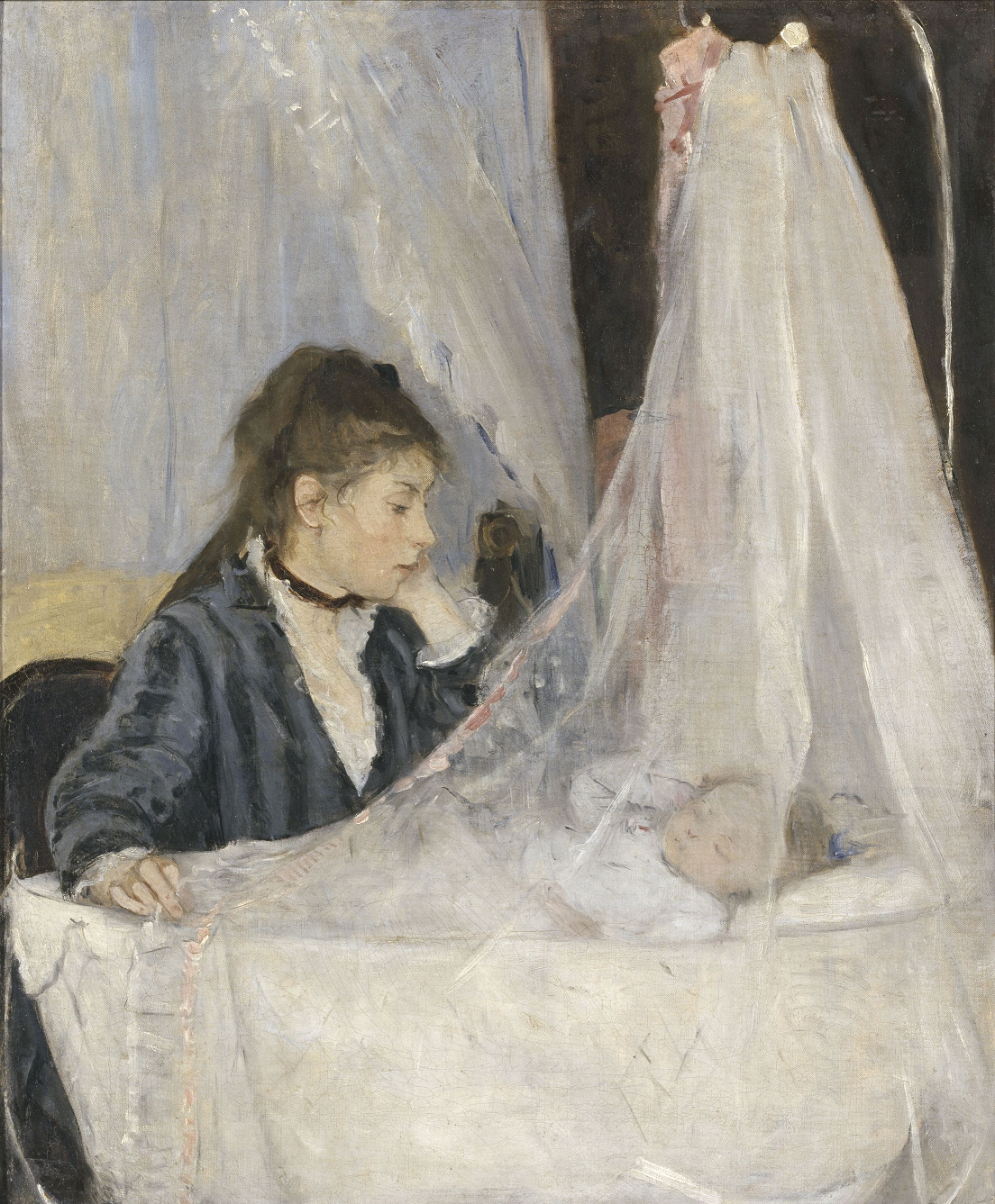 Berthe Morisot, The Cradle, 1872 Oil on canvas, 56 x 46 cm Musée d'Orsay, Paris