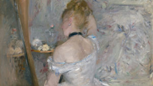 Berthe Morisot, Woman at her toilette, 1875, huile sur toile    60.3 x 80.4 cm, Art Institute of Chicago